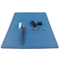 Self healing cutting mat set 22x30 cm. + cutter