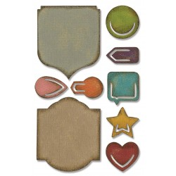 Noted Sidekick Side-Order Set By Tim Holtz Sizzix