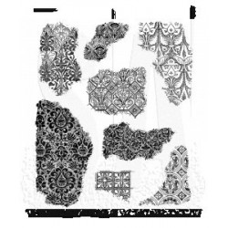 "Frangments Cling Rubber Stamp Set 7""x8,5"" Tim Holtz"