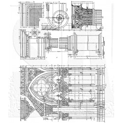 "Architecture Cling Rubber Stamp Set 7""x8,5"" Tim Holtz"