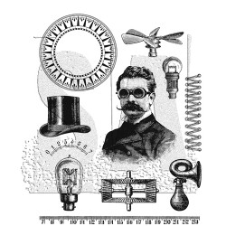 "The Professor Cling Rubber Stamp Set 7""x8,5"" Tim Holtz"