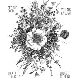 "Glorious Garden Cling Rubber Stamp Set 7""x8,5"" Tim Holtz"