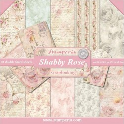 """Shabby Rose 12""""x12"""" Scrapbooking Paper Pad Stamperia"""