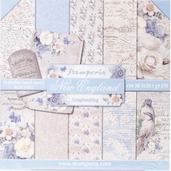 """New England 12""""x12"""" Scrapbooking Paper Pad Stamperia"""