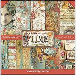 """Time is an Illusion 12""""x12"""" Scrapbooking Paper Pad Stamperia"""