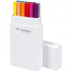 Tombow ABT Dual Brush Pen Set 12 Primary Colours