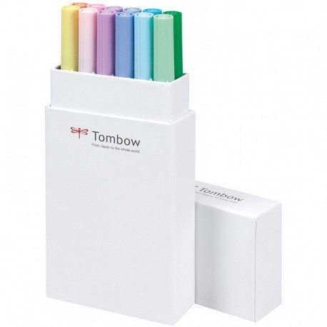 Tombow ABT Dual Brush Pen Set 12 Pastel Colours