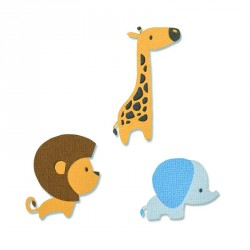Baby Jungle Animals Thinlits Die Sizzix