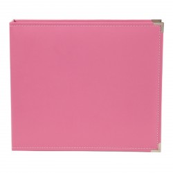 "Pink 12""x12"" Leather Album Sn@p! Studio Simple Stories"