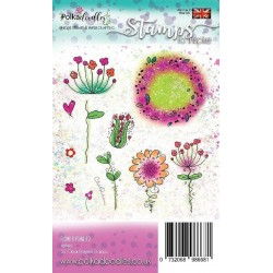 Flower Power 2 Clear Polymer Stamp Polka Doodles