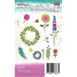 Flower Power 1 Clear Polymer Stamp Polka Doodles