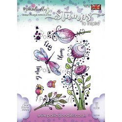 Time To Bloom Clear Polymer Stamp Polka Doodles