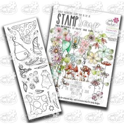 Magic Garden Clear Polymer Stamp Soup Polka Doodles