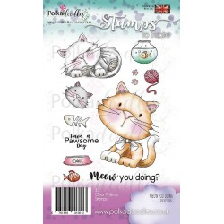 Meow You Doing? Clear Polymer Stamp Polka Doodles