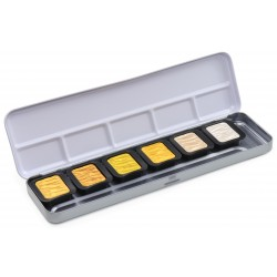 Gold & Silver Mica Watercolor Pearlescent Colours Finetec