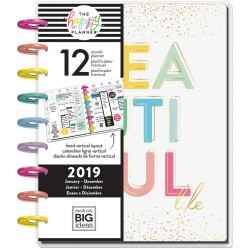 "Life Is A Party Jan-Dec 2019 12-Month Dated Medium Planner 7,75""x9,75"" The Happy Planner Me & My Big Ideas"