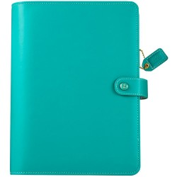 "Jade Color Crush Faux Leather A5 Planner Kit 7,5""x10"" Webster's Pages"