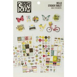 Hello A5 Sticker Tablet Carpe Diem Simple Stories
