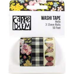 Hello Washi Tape 3 Pkg Carpe Diem Simple Stories