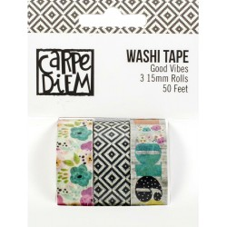 Good Vibes Washi Tape 3 Pkg Carpe Diem Simple Stories