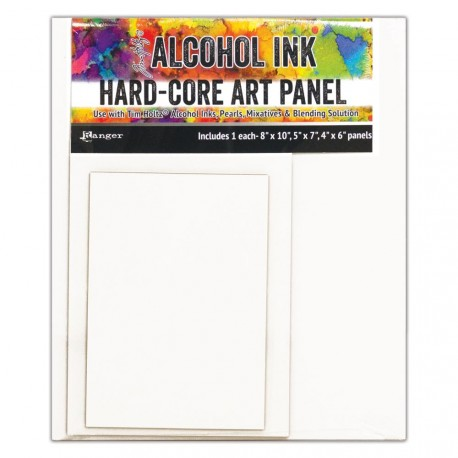 Alcohol Ink Hard Core Art Panel 3 Pkg Tim Holtz