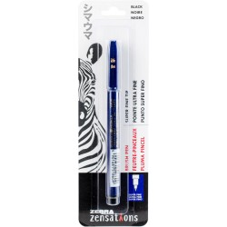 Black Super Fine Tip Brush Pen Zebra Zensations