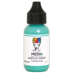 Turquoise Media Heavy Body Acrylic Paint Dina Wakley Ranger