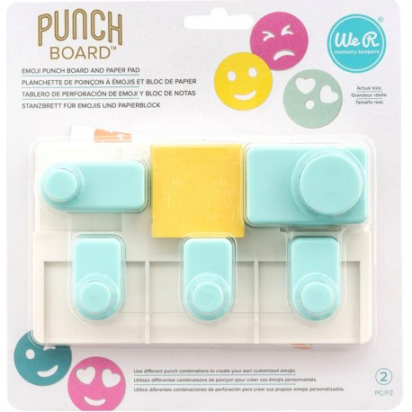 Emoji Punch Board And Paper Pad We R Memory Keepers