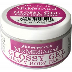 Glossy Gel Heavy Body Paste Mixed Media Art Stamperia