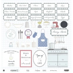 """Menu Double-sided Cardstock 12""""x12"""" Gourmet II Collection Sra Granger"""