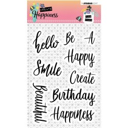 "Happiness Clear Stamp Set 4""x6"" Studio Light"