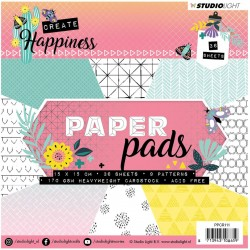 Happiness Paper Pad 15x15cm Studio Light