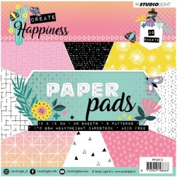 Happiness 2 Paper Pad 15x15cm Studio Light
