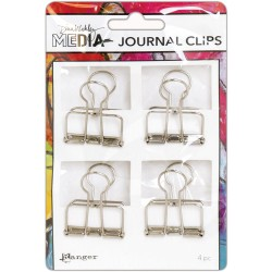 Dina Wakley Media Journal Clip Medium 4 pkg