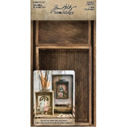 Wooden Vignette Boxes Set Idea-ology by Tim Holtz