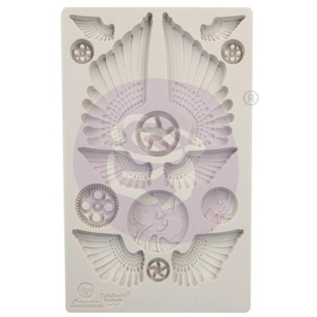 """Cogs and Wings Decor Moulds 3,5""""x4,5"""" Finnabair Prima Marketing"""