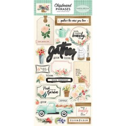 Flower Market Chipboard Adhesive Cardstock Accents Carta Bella