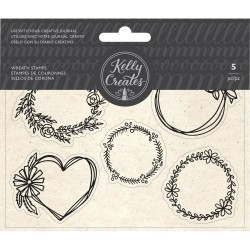 Wreaths Set Acrylic Traceable Stamps Stamp & Trace Kelly Creates