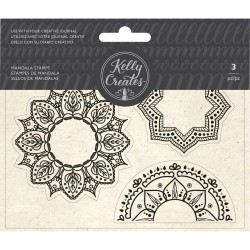 Mandala Set Acrylic Traceable Stamps Stamp & Trace Kelly Creates