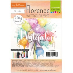 Watercolor Paper Smooth 200 g A5 Pkg 24 Florence Vaesen Creative