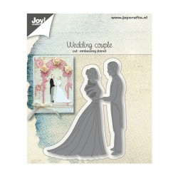 Sposi Wedding Couple Cut & Embossing Stencil Joy Crafts