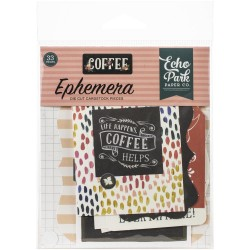 Coffee Ephemera Die Cut Cardstock Pieces Echo Park