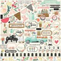 "Flower Market Element Sticker 12""x12"" Carta Bella"