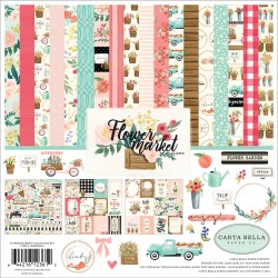 "Flower Market Collection Kit 12""x12"" Carta Bella"