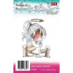 Winnie Heavenly Snow Tweet Clear Polymer Stamp Polka Doodles