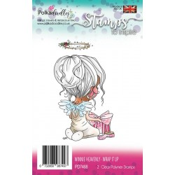 Winnie Heavenly Wrap It Up Clear Polymer Stamp Polka Doodles
