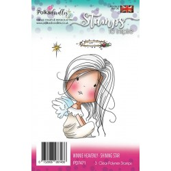 Winnie Heavenly Shining Star Clear Polymer Stamp Polka Doodles