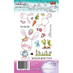 Carrot Friend Clear Polymer Stamp Polka Doodles
