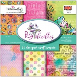 Posy Doodles Designer Craft Papers Polka Doodles