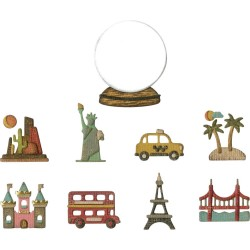 Tiny Travel Globe Thinlits Dies By Tim Holtz Sizzix